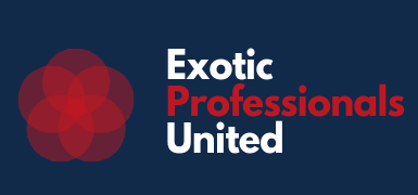 Exotic Professionals United Logo NAVY BLUE