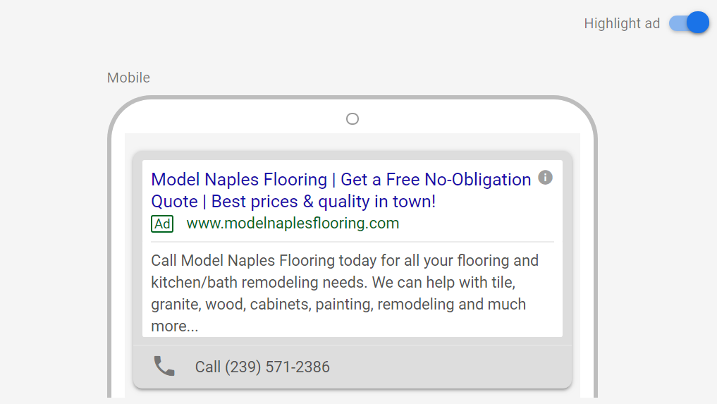 Model Google Ads