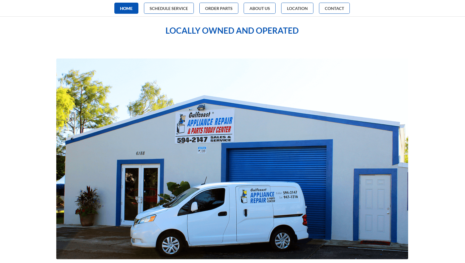 gulfcoast appliance repair - web design by alex belan photography