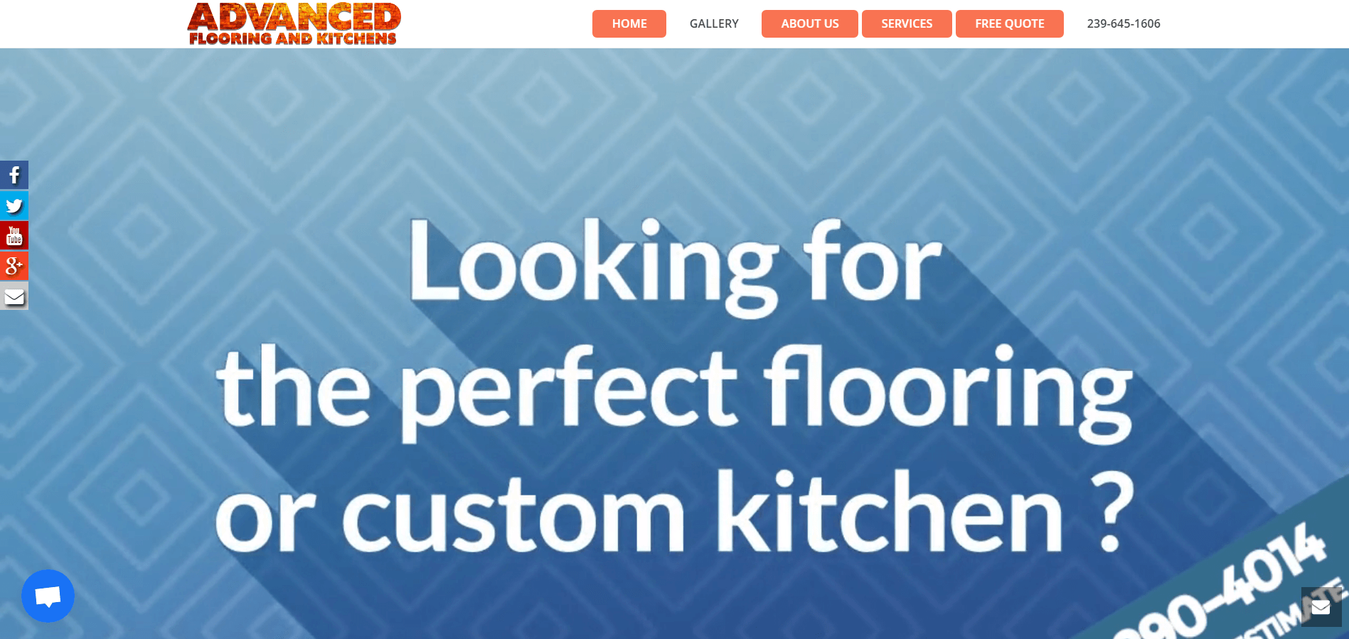 advanced flooring and kitchens splash page