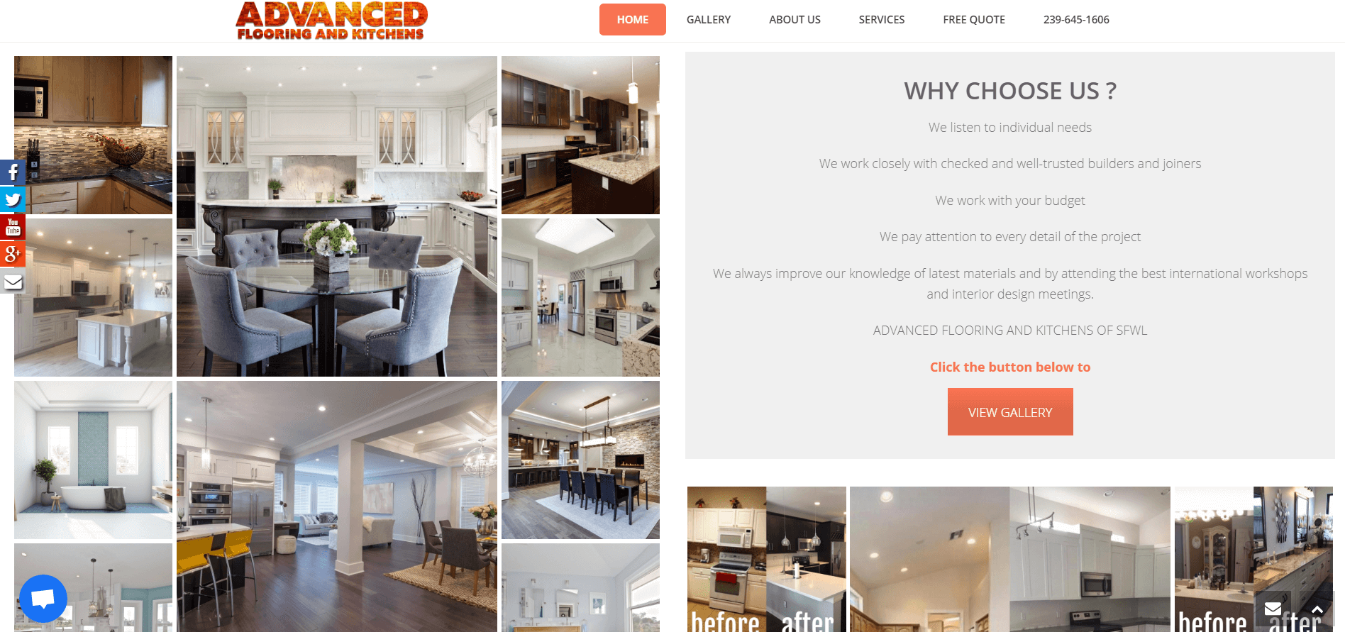 advanced flooring and kitchens why choose page