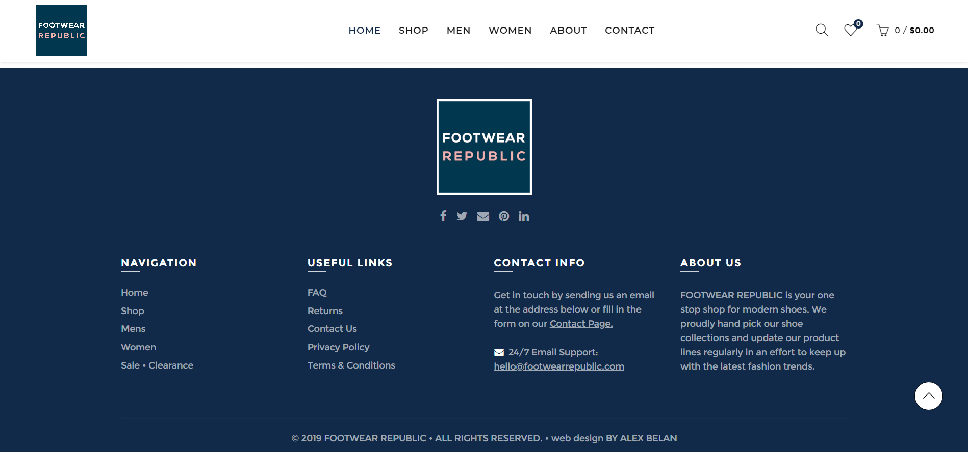 footwear republic footer page