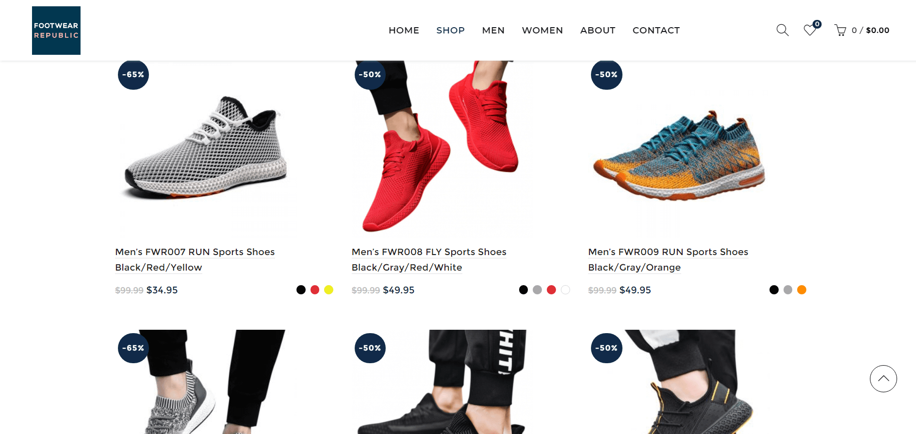 footwear republic shop page