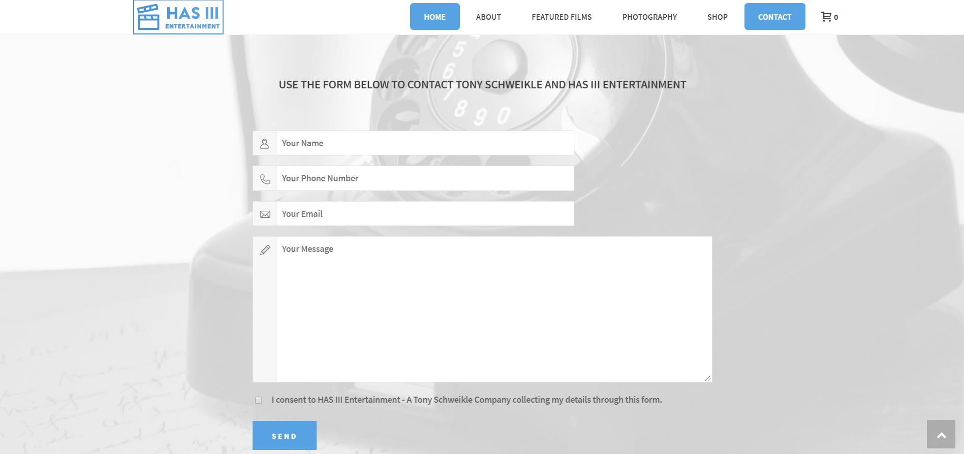 has iii entertainment contact page