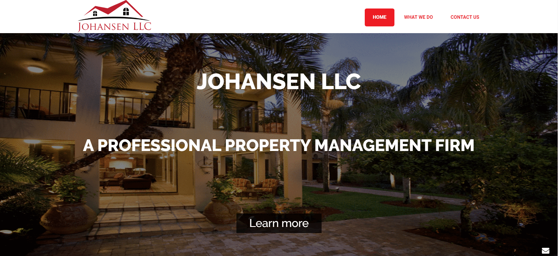 johansen llc splash page