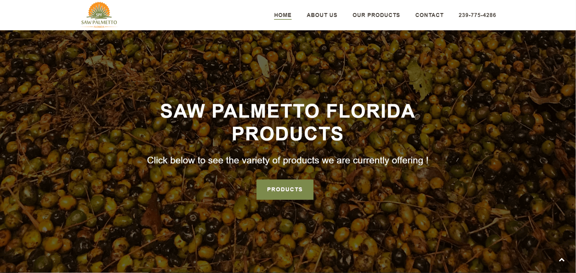 saw palmetto florida products page