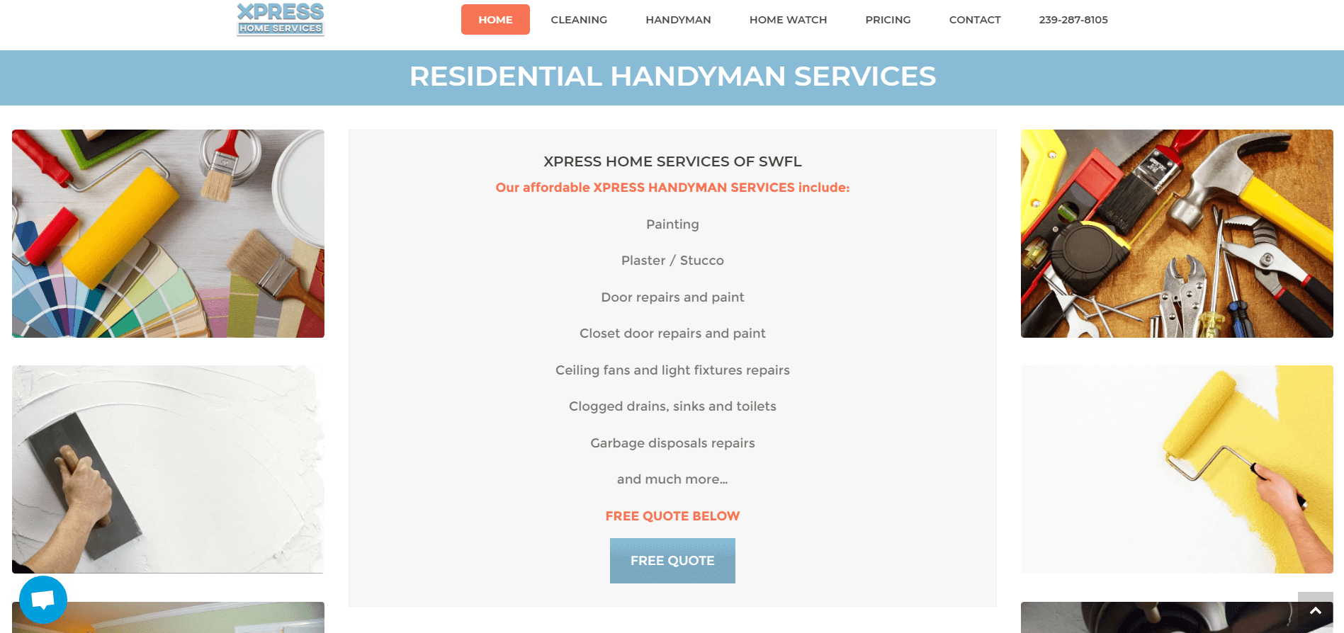 xpress home services handyman page