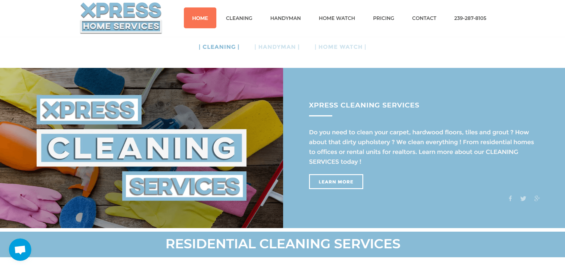 xpress home services splash page